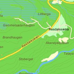 resdalen kart Seås Fremre på Gule Siders kart resdalen kart