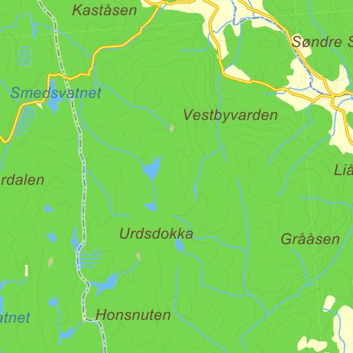 simostranda kart Nordre Simostranda på Gule Siders kart