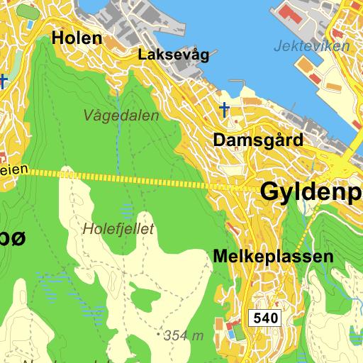 Unike Bergen Dokken på Gule Siders kart BR-09