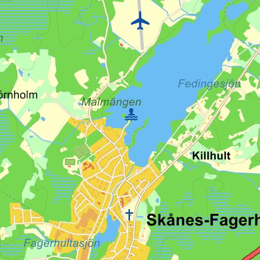 Karta Skane Eniro.Trafikplats Skanes Fagerhult Karta Pa Eniro