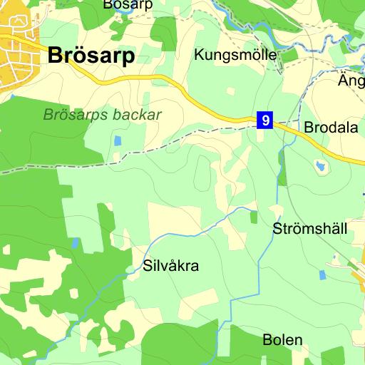 Karta Skane Eniro.Tomelilla Karta