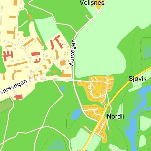 sessvollmoen kart Sessvollmoen Forsvarsvegen på Gule Siders kart