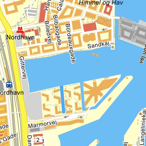 nordhavn station kort