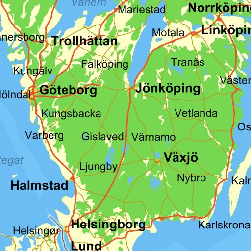 kort over nordjylland med byer