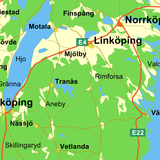 Vägbeskrivning Från Ryhov Till Norrköping Eniro Visar Vägen I